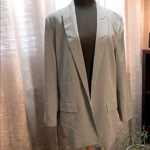NWT H&M new with tags Pale Blue Open Blazer